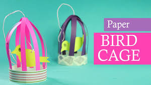 paper crafts for kids paper bird with cage for balcony diy home