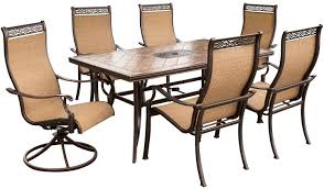 hanover brown 7 piece outdoor dining set monaco7pcsw