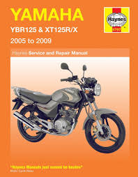 yamaha ybr 125 xt 125 repair manual haynes service manual workshop