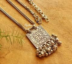 boho pendant necklace images Ethnic tribal boho pendant chain necklace online in india azilaa jpg