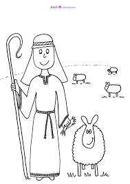 shepherd and sheep coloring page inside omeletta me