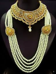 bridal necklace set pearl images Specialist in the coordination of indian bridal jewellery in the jpg