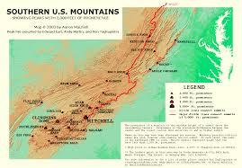 Southeast Usa Map by Southeastern Usa Prominence Map Gif