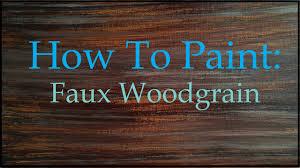 wood paint how to paint faux wood grain tutorial
