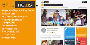 newspaper theme html5 britanews animated html5 css3 news magazine by envalabs