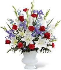 Funeral Flower Designs - funeral flowers for veterans