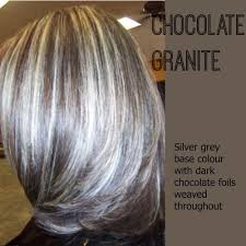 coloring gray hair with highlights hair highlights for image result for transition to grey hair with highlights
