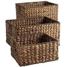 Wicker Storage Bench Storage Bench With Wicker Baskets Cream Cushion Wicker Storage