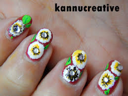 spring one stroke nail art design step by step tutorial u2013 her