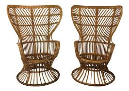 Vintage Bamboo Chairs Vintage U0026 Used Rattan Patio And Garden Furniture Chairish