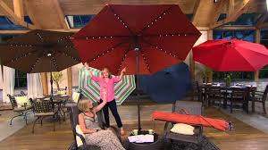 offset patio umbrella with led lights offset patio umbrella with solar lights mopeppers 631850fb8dc4