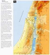 Map Of Palestine Bible Maps