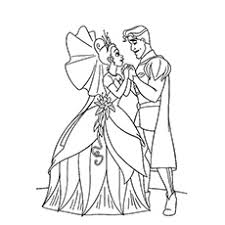 30 free printable princess frog coloring pages