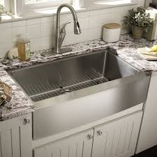 sinks white color top mount farmhouse kitchen sink on black