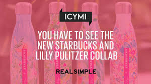 you have to see the new starbucks and lilly pulitzer collab video