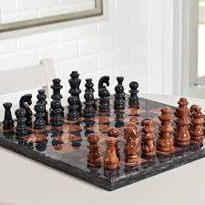 black and tan marble chess set hayneedle