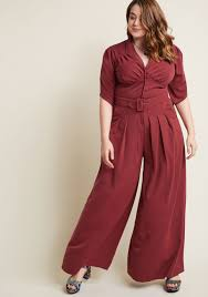 dress jumpsuit miss candyfloss the embolden age jumpsuit in burgundy modcloth