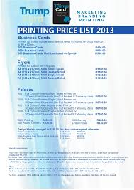 Business Card Design Pricing Business Profile July 2013