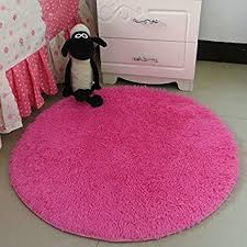 Pink Rug For Girls Room Amazon Com Hoomy Modern Fluffy Rug Round Pink Floor Mats For