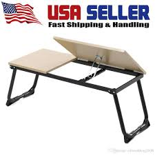 Portable Laptop Desk On Wheels by Bed Sofa Computer Table Adjustable Foldable Pc Notebook Desk Tray