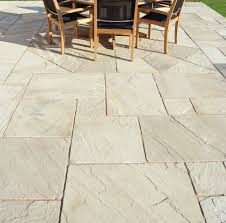 garden tile floor natural stone sandblasted mint fossil