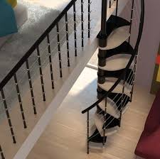 modern interior design with spiral stairs contemporary spiral