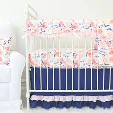 willow watercolor floral crib bedding set by caden lane