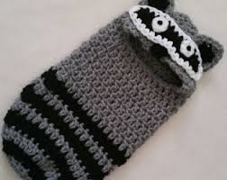 Baby Raccoon Halloween Costume Crochet Baby Raccoon Costume Etsy