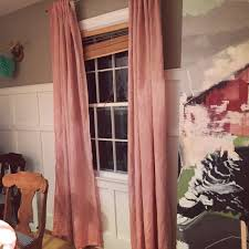 Petal Pink Curtains Tiptoethrough Diy Dyed Dinging Room Curtains