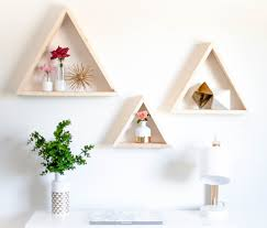 single triangle wood shelf