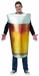 amazon com rasta imposta beer pint costume gold one size clothing