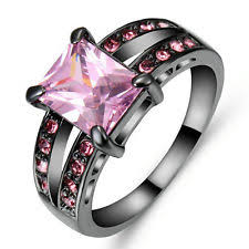 black and pink wedding rings pink black ring ebay