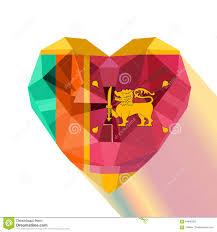 Sri Lanka Flag Lion Sri Lanka Flag Vector Flat Style Stock Vector Illustration