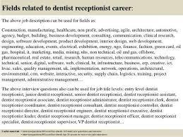 Front Desk Officer Dentist Description Resume Cv Cover Letter Within Front Desk