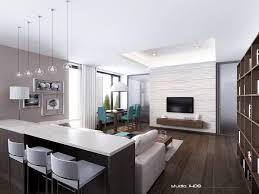 Modern Home Interior Decoration by Modern Apartment Interior Design In Warm And Glamour Style
