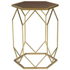 Hexagon Side Table Lazy Susan Hexagon Side Table Candelabra Inc