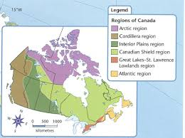 regions of canada map canada s 6 geographic regions student spark ca