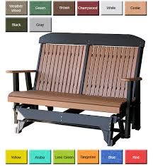 outdoor poly furniture luxury poly pcglbch high back glider bench