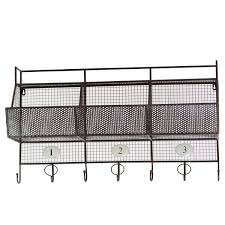 urban trends metal shelf and coat hanger with mesh backing 3