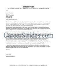 sample elementary teacher cover letter cover letter french