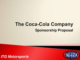 the coca cola company sponsorship proposal itg motorsports