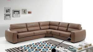 modern euro furniture spain made full brown leather interchangeable sectional sleeper