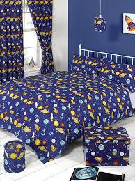 Kids Single Duvet Cover Sets Childrens Boys Single Bed Duvet Set Spaceman Rockets Quilt Cover