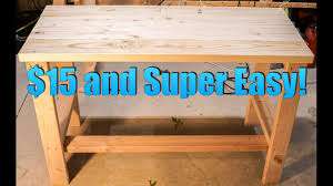 build a super cheap and easy desk youtube