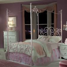 home design 36 beautiful white iron canopy bed image inspirations