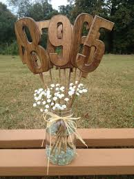 wedding table centerpiece wooden table numbers rustic wedding decor wedding