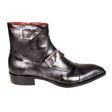 s boots designer ghost s designer shoes metallic black leather boots jg1545