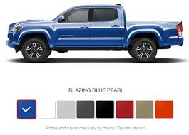 what are the 2016 toyota tacoma color options