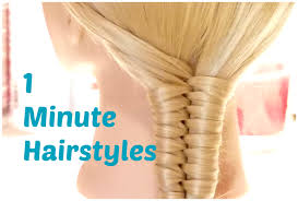 nice hairdos for the summer 1 minute hairstyles easy summer hairstyles crix tutorials