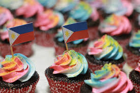 Filipino Flag Colors Filipino Independence Day Swirl Cupcakes Underground Culinary Lab